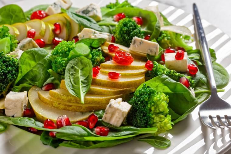 Jesienna sałatka z gorgonzolą